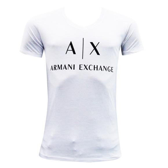 825f15da A/X Armani Exchange Shirts   New Armani Exchange Mens White V Neck T ...